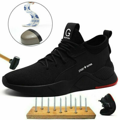 New Men's Safety Labor Shoes Steel Toe Cap Women Unisex Hiking Trainers Sneakers