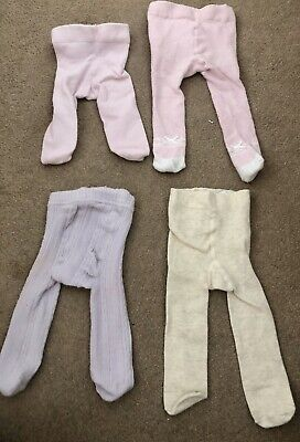 Baby Girls Next Tights Bundle First Size / Upto 1 Month Pink Lilac And Oatmeal
