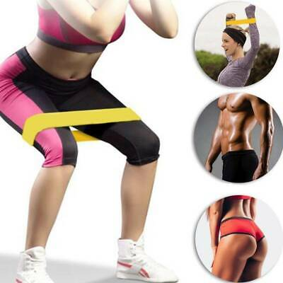 5PCS Set RESISTANCE BANDS LOOP SINGLES Home Workout Exercise Yoga Pilates Home