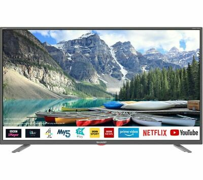 "Sharp 2T-C40Bg3Kg2Fb 40"" Smart Led Lcd Tv Full Hd 1080P Freeview Hd Hdmi Usb"