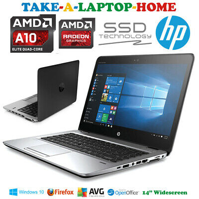 Cheap Fast HP Gaming Laptop A10 QuadCore 3.3GHz SSD Windows10 8Gb Office or Home