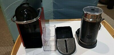 Genuine Used DeLonghi Nespresso  EN 125.R Red  Capsule Cappuccino Coffee Espress