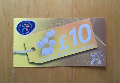 10% OFF! £10 National Garden Gift Voucher - Nearly New Gift Quality!