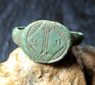 Medieval bronze ring of the 15-16th century
