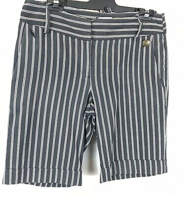Cue Striped Shorts - Size 10