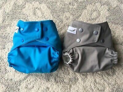 Kawaii Baby One Size Pocket Cloth Diapers with Snap Closure Lot Of Two