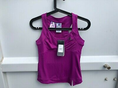 Adidas Girls Tank Gym Workout Top Sports - Purple - 12 Years