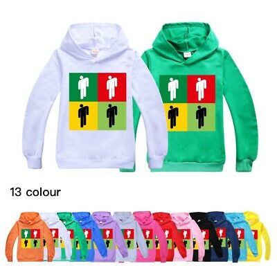 New Billie Eilish Kids Boys Girls Hoodie Sweatshirt Long Sleeve Jumper Tops UK