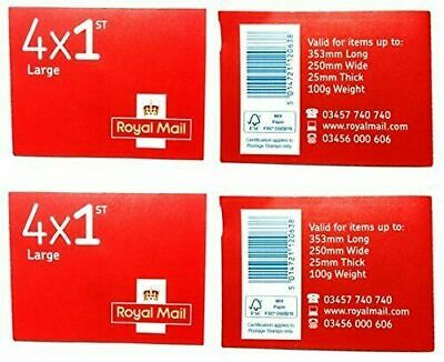 Royal Mail 1st Class Large Letter Postage Stamps - 2Books (8 stamps in total)