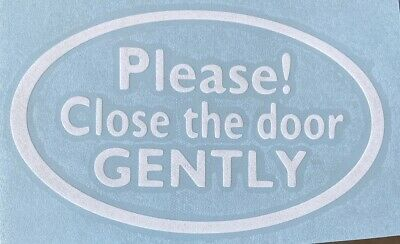 """/""""PLEASE CLOSE THE DOOR GENTLY/"""" sticker decal MAGNETIC sign UBER LYFT taxi car"""