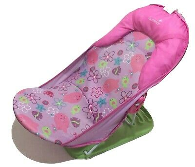 Pink Summer Infant Deluxe Baby Bather Foldable Bathing Chair Fish and Flowers