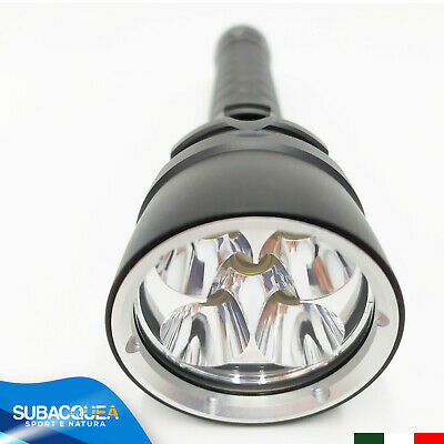 Torcia Subacquea Ricaricabile A 5 Led Cree Per Sub Diving Scuba  Waterproof