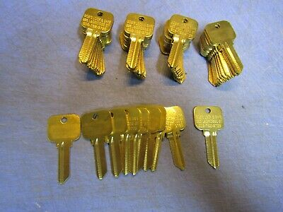 LOT of 50 SC1 Key Blanks fit SCHLAGE SC1, 5 Pin Brass. NEW