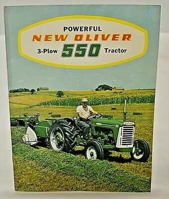 1959 Oliver 550 Gas and Diesel Tractor Sales Brochure