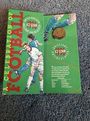 Brilliant Uncirculated 1996 Two / 2 pound coin football, Royal Mint