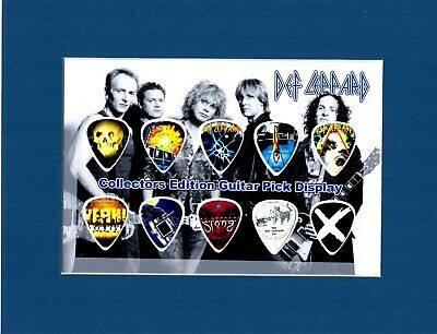 Def Leppard Matted Picture Guitar Pick Set Pour Some Sugar On Me Love Bites