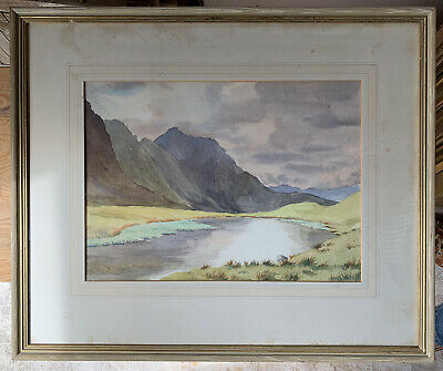 Large early 20th century watercolour 'Redtarn, Lake District' by Margery Plowden
