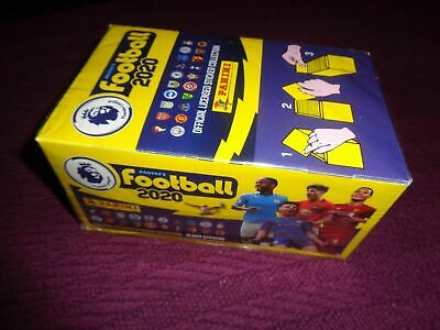 Panini Football 2020 Premier League Stickers - Unopened box of 100 packs.