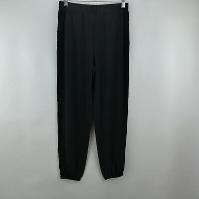 Lisa Rinna Collection Knit Cropped Jogger Pants Black XS A341719