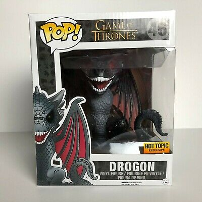 Funko POP! Drogon #46 6 inch Black Dragon Game of Thrones Hot Topic Exclusive
