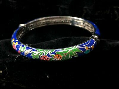 Belle Etoile Bracelet Hand Painted Multi Color Enamel- with Cubic Zirconia