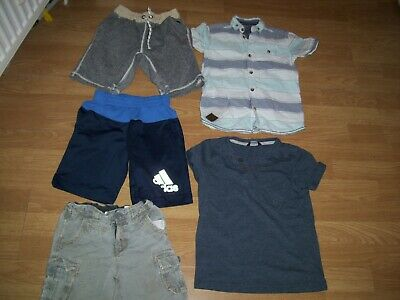 Boys bundle of summer clothing.Age 5-6 years.Shorts and tops. Free Postage!