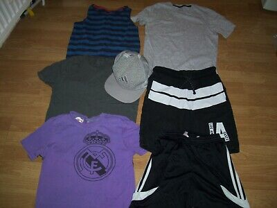 Boys bundle of summer clothing.Age 11-12 years.Shorts, cap & tops.Free Postage.