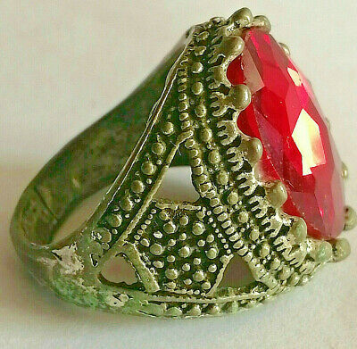 Stunning Ancient ROMAN Ring With Stone Silvered Amazing Piece.
