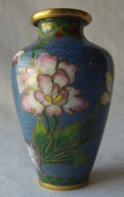 "Lovely Small Vintage Chinese Cloisonne Vase 3""T"
