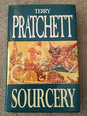 Terry Pratchett Discworld fantasy hardback SOURCERY letterbox dust jacket 1996