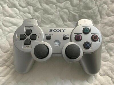 Official Playstation 3 DualShock 3 Silver Wireless Controller Sony PS3 Parts