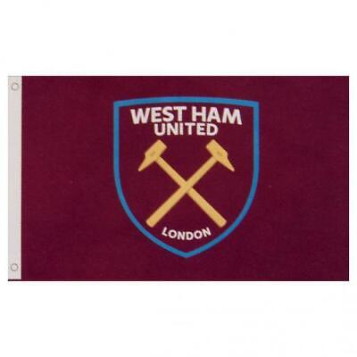 West Ham United FC Official Football Club Flag (5ft x3ft) FREE (UK) P+P