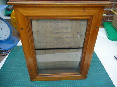 Vintage Railway Manual Time Table In Wooden Case From Deceased Estate