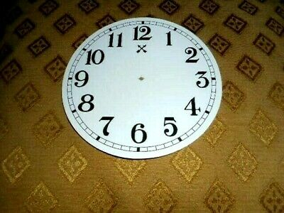"""Round HAC Paper (Card) Clock Dial - 5"""" M/T - Arabic -GLOSS WHITE-  Parts/Spares"""