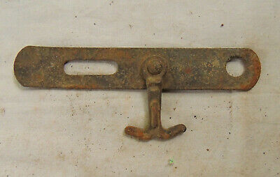"Antique Iron  Gate Latch Hook Lock Rusty Small 6 ""Steampunk Rustic Barn Decor"