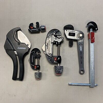 (Qty 6) Husky HDX Plumbing Tools Tube/PVC/Ratcheting Cutter, Basin & Pipe Wrench
