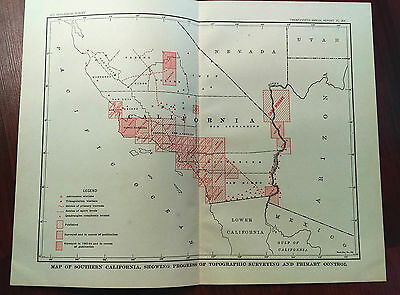 1904 USGS Color Survey Sketch Map of Southern and Lower CA, Camp Mohave, L.A.