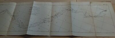 1883 Mississippi River Commission Triangulation Map Cairo to Grafton Powers Isl