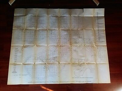 1918 Oklahoma USGS Oil and Gas Survey Map Midland Valley Railroad Belford School