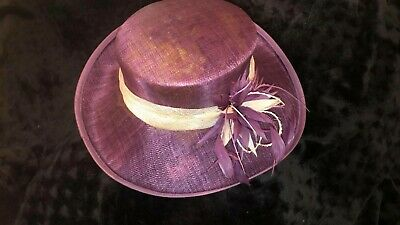Ladies Jacques Vert Purple Hat Wedding, Races, mother of the bride used