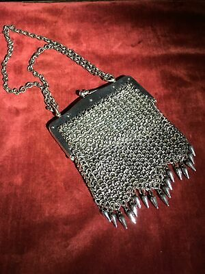 French cut steel 'chain mail' evening bag, C. 1930