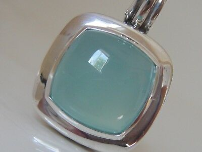 David Yurman Ss Large Albion Aqua Chalcedony Enhancer
