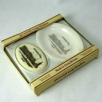 Buckingham Palace Pictorial Soap and Dish Plate Travel Souvenir Bathroom Display