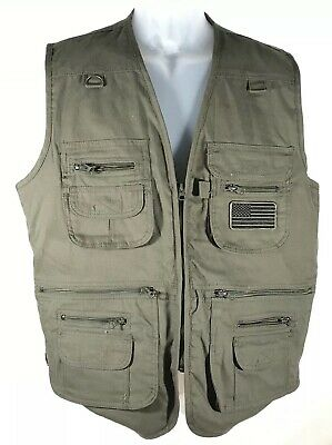 HQ ISSUE Mens Medium Concealment Vest Green