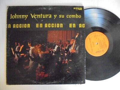 JOHNNY VENTURA  En Accion DISCOLOR Latin Salsa Guaguanco LP HEAR