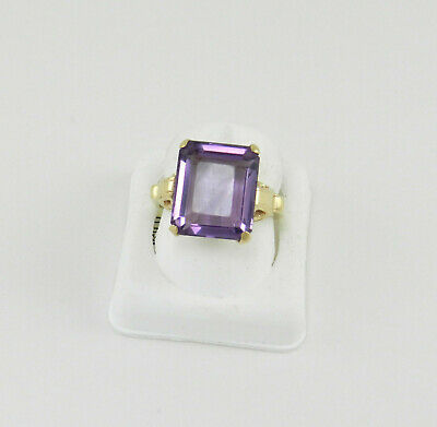 Beautiful  5.0 Ct Amethyst  14K  Yellow Gold  Lady  Ring  Estate #559