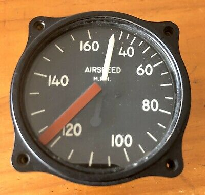 Air Speed Indicator MPH Low Speed Classic Aircraft Gauge Vintage Instrument