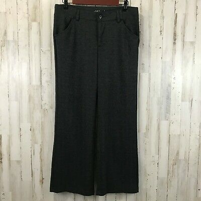 Riders by Lee Womens Pants 10P Gray Black Trouser Stretch Career UL6
