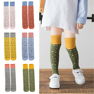 Baby Girl Kid Classic Cotton Leopard Long Stockings High Over Knee Winter Tights