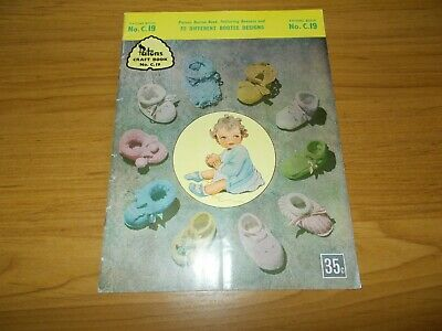 Vintage~Patons Knitting Book #C19~Bootee Book~32 Bootee Designs~Booties~Bonnet
